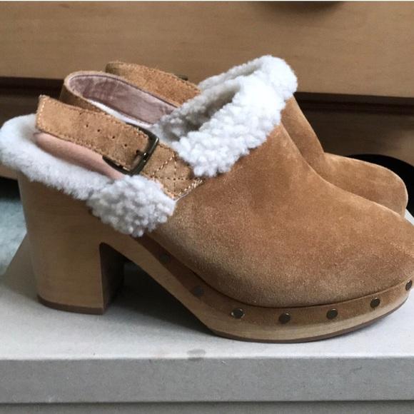 fd29ab329ea0 Madewell Shoes - Madewell Marlin Fur Slingback Block Heel Clogs